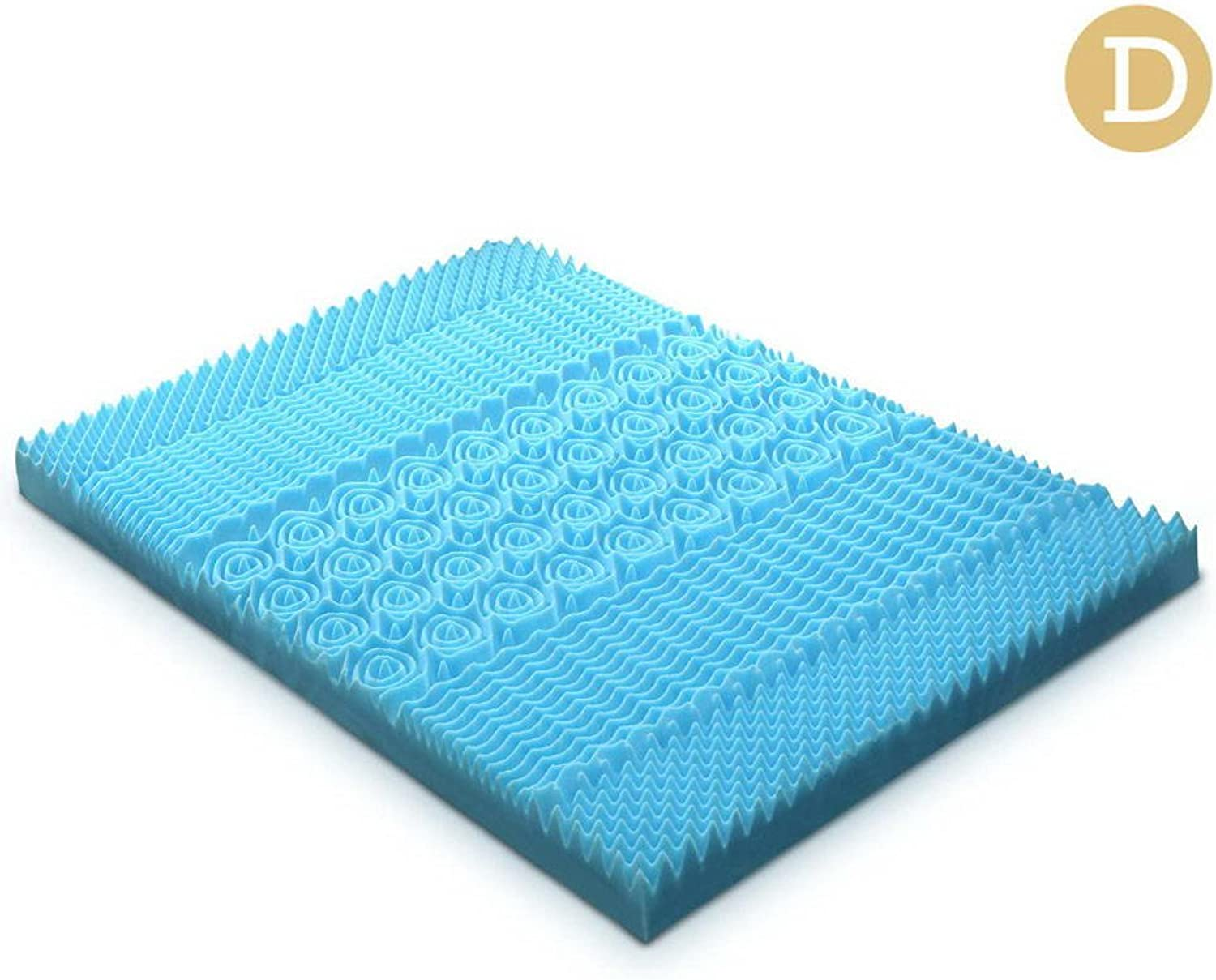 Double Size 5cm Thick Cool Gel Mattress - bluee