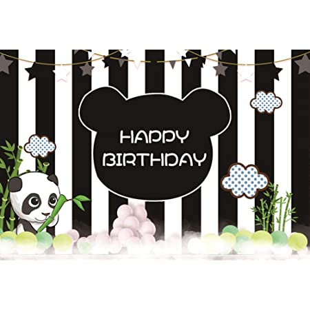 12x12ft Happy Birthday Background Abstract White Golden Black Balloons Ribbon Confetti Photography Background Kid Baby Children Adult Girl Boy Bday Party Decoration Photo Booth Studio Vinyl Props