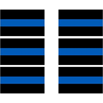 Police 3pc Thin Blue Line Decal Sheet of 4 Window Bumper Laptop Stickers
