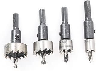 Atoplee 4pcs Iron Cutting Hole Saw Twist Drill Bit Hex Wrench,12 16 22.5 25.5mm