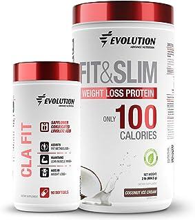 Sponsored Ad - Evolution Advance Nutrition 2 Pack: Conjugated Linoleic Acid CLA 90 Softgels + Fit & Slim Blend, Grass Fed ...