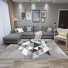 W&HH SHOP A12 - Alfombra moderna y minimalista para salón, con diseño geométrico