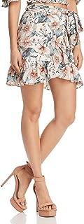 J.O.A. Women's Ruffle Skirt with Waist Tie