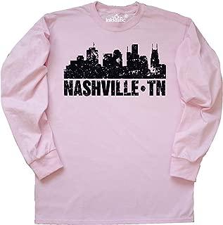 Nashville Skyline Grunge Long Sleeve T-Shirt
