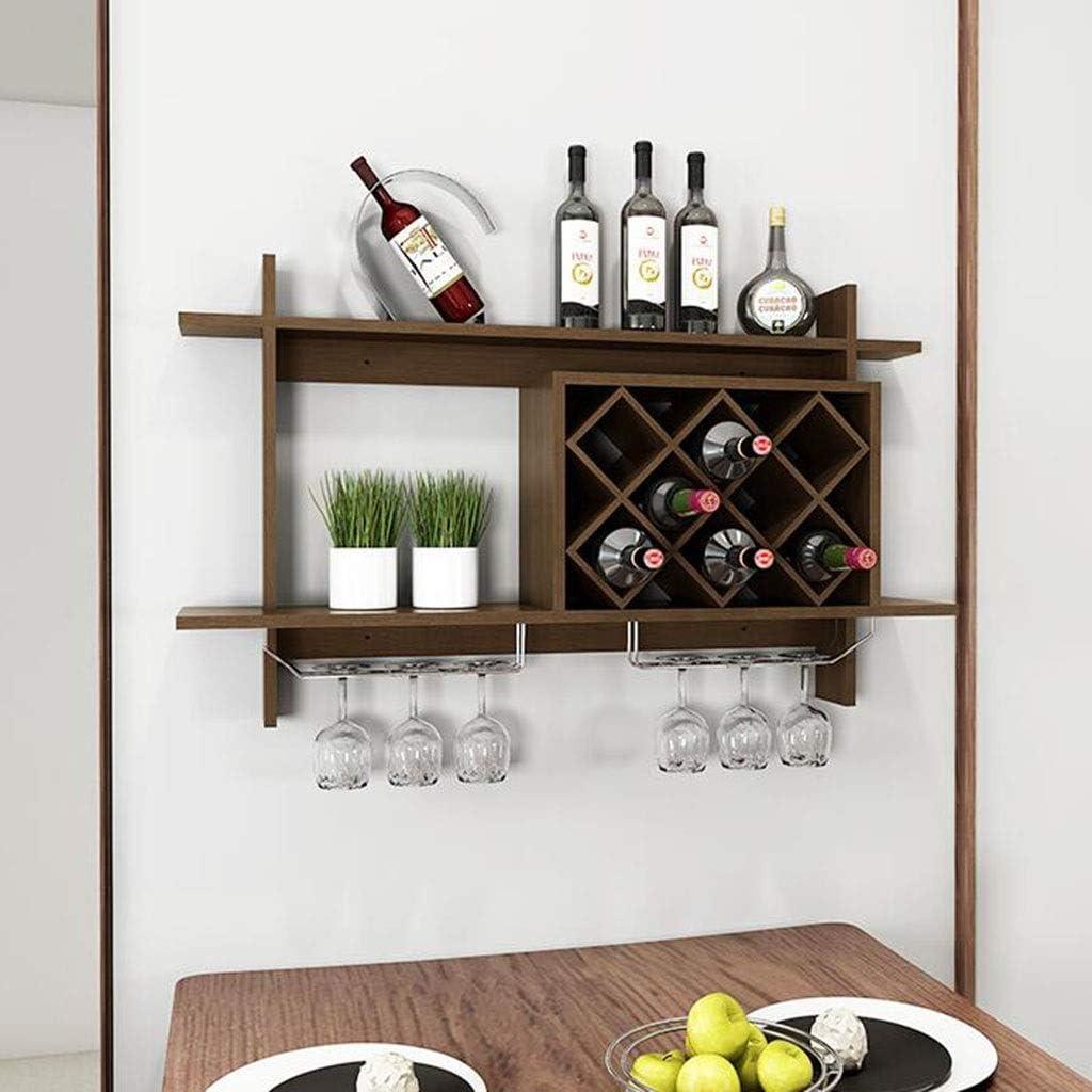 Amazon Com Cyt Simple European Wall Hanging Wine Rack Wine Cabinet Hanging Lattice Rack Wine Rack Creative Wall Rack Wine Grid Storage Rack Color Brown Size 10058 520cm Home Kitchen