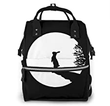 Moony Bunny Rabbit Baby Diaper Bag, Multifunction Waterproof Travel Backpack Nappy Tote Bags For Mom & Dad, Large Capacity