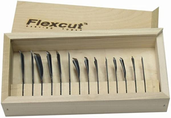 Flexcut RG100 Deluxe Power Gouge Set For Carving Tools Home Garden