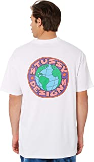 Stussy Men's Earth Mens Tee Crew Neck Short Sleeve Cotton Soft Purple