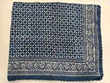 Indianhandicraft Jaipuri Indigo azul Kantha funda de cama Vintage Kantha colcha manta de algodón Gudri Patchwork estampado cubierta #158