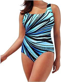 Women One Piece Swimsuit Bodysuit, Ladies Color Printed Beach Bikini Set Swimwear Push up
