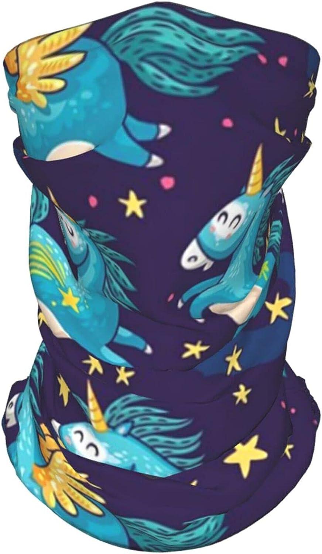 Unicorn Neck Gaiter Multipurpose Headwear Ice Silk Mask Scarf Summer Cool Breathable Outdoor Sport 4 Pcs