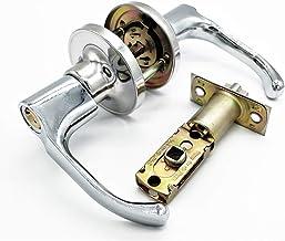 Qrity Hendel deurklink slot, voor gebruik van toegang, doorgang en badkamer (met sleutel), vergrendeling maat 60/70mm