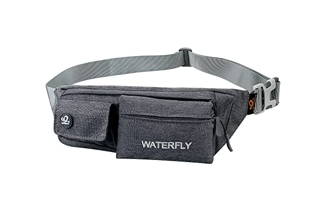 WATERFLY Slim Soft Polyester Water Resistant Waist Bag Pack for Man Women Out...