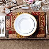 Artbisons Place Mats Sets of 6 Handmade Non-Slip 40x30cm Illusion Golden Dining Table Mats