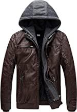 Blaq Ash Men's Faux Leather Jacket with Removable Hood
