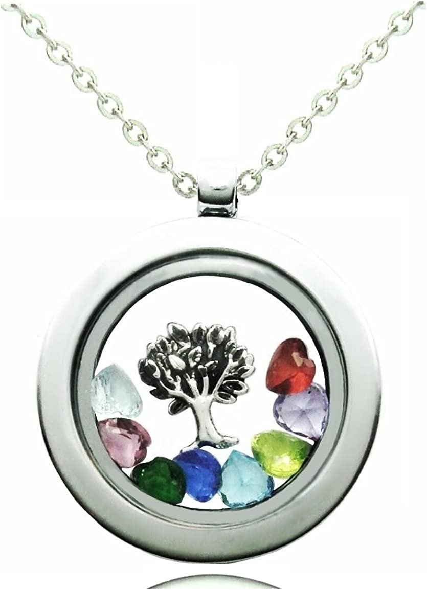 Cherityne Max 82% OFF Family Sale special price Themed 30mm Round Floating 316L Stainless Steel