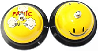 2 pcs Panic and Happy Face Desk Office Call Bell for School Office Classroom Receptionist (Happy Face & Panic)
