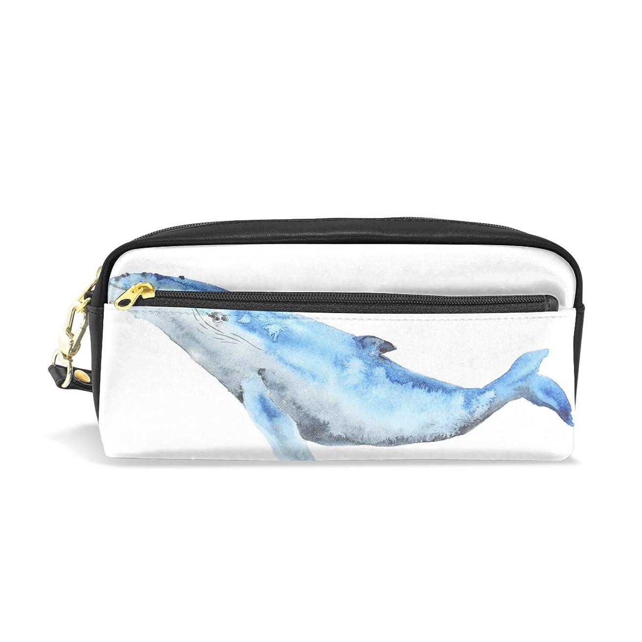 レイプ限界アプライアンスAOMOKI ペンケース 小物入り 多機能バッグ ペンポーチ 化粧ポーチ 男女兼用 ギフト プレゼント おしゃれ かわいい クジラ 魚 海