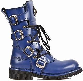 precios bajos todos los dias New New New Rock - botas de cuero para mujer azul azul  seguro de calidad