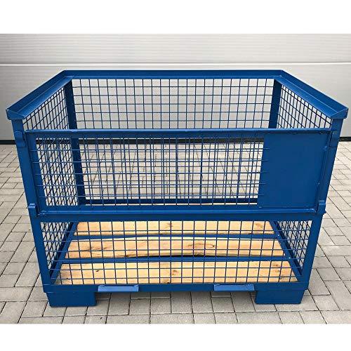 Gitterbox Box Industrie Lagerbox 1240x835x970 mm Blau stapelbar