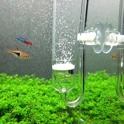 Yagote CO2 Diffuser, Nano CO2 Diffuser Glass Reactor for Aquarium Planted Tank (CO2 Diffuser)