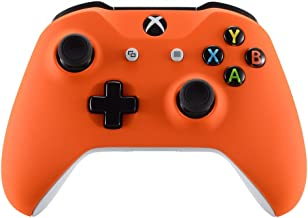 eXtremeRate Orange Faceplate Cover, Soft Touch Front Housing Shell Case, Comfortable Soft Grip Replacement Kit for Microsoft Xbox One X & One S Controller