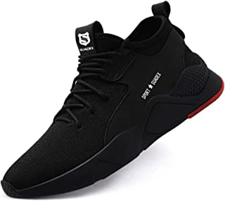 SUADEX Steel Toe Shoes for Women Men, Anti Slip Safety Shoes Breathable Lightweight Puncture Proof Work Construction Sneakers
