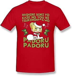 Bakugou Men's Anime Fate Stay Night Sing with Nero Christmas Padoru Short Sleeve Top T-Shirt