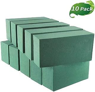 VEYLIN 10Pcs Wet Floral Foam Blocks, Deluxe Green Styrofoam Bricks for Flower Arrangement