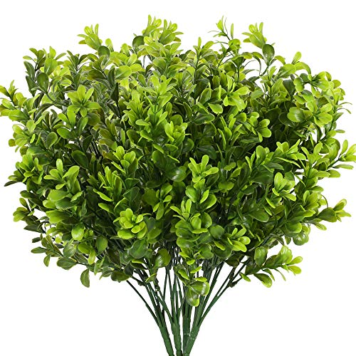 NAHUAA 4PZ Arbusti Artificiali Verde Piante Artificiali Felce Artificiale Falso Finte Plastica Piante da Interno Esterno per Decorazione Balconi Casa Soggiorno Giardino Tavolo