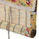 Bambusrollo Bambus-Rollos, Schilf, für Balkon, Villa, Pavillon im Freien, Sichtschutz Rollo, Multi-Size, Size : 135×135 cm (53.1'×53.1')