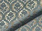 Möbelstoff SALOME 927 Muster Ornamente blau als robuster
