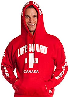 Official Guys Red Lifeguard Hoodie