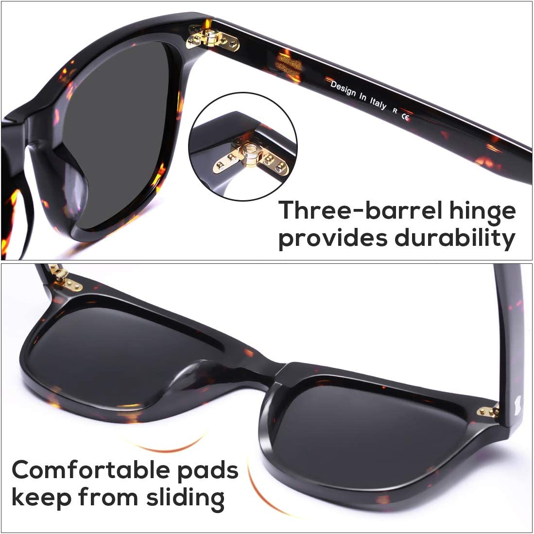Carfia Polarized Mens Sunglasses UV Protection for Driving Fishing Outdoor Sport Glasses CA5356