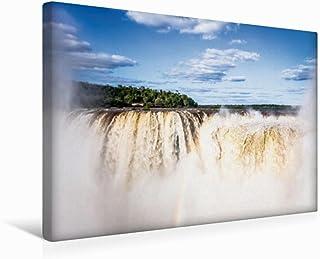 CALVENDO Premium canvasduk 45 cm x 30 cm tvärgående, vattenfall från Iguazú   Väggkonst, bild med kilram, bild på äkta du...