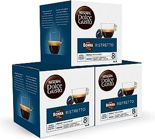 Nescafé Dolce Gusto Bonka Espresso, Lot de 3, 3 x 16 Capsules