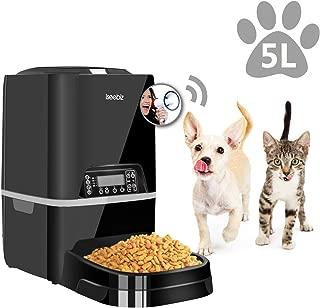 Iseebiz 自動給餌器 犬 猫 餌 自動 餌やり 自動餌やり機 自動給餌機 うさぎ オートフィーダ タイマー 録音 2WAY給電 5L