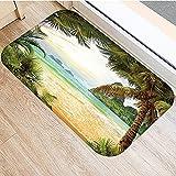 OPLJ Felpudo de impresión de Paisaje de Playa de mar, Alfombra Antideslizante de Cocina, Felpudo de decoración de Interiores, Alfombra de Piso Absorbente de baño A13 50x80cm
