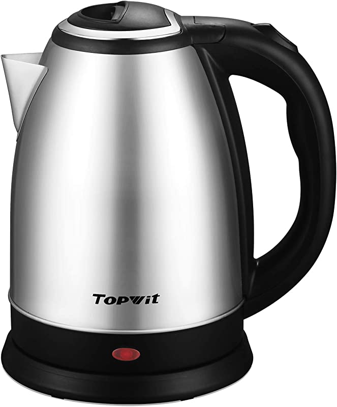 Topwit Electric Kettle Water Heater Boiler 2 Liter Stainless Steel Coffee Kettle Tea Pot Water Warmer Cordless With Fast Boil Auto Shut Off Boil Dry Protection Upgraded