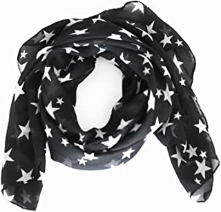 arssilee black Fashion Beautiful Warm Star Pattern Scarf Shawl
