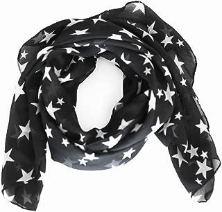 black Fashion Beautiful Warm Star Pattern Scarf Shawl