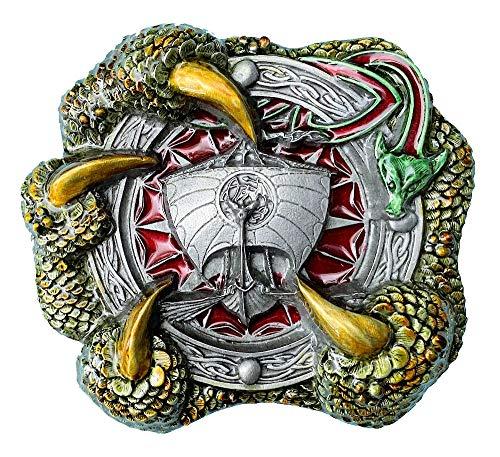 Gürtelschnalle mit keltischer Kralle, mit Geschenkbox