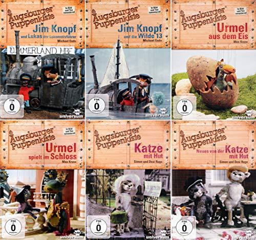 Augsburger Puppenkiste: Urmel (Schloss + Eis) + Jim Knopf (Lukas + Wilde 13) + (Katze mit Hut + Neues von der Katze mit Hut) [6er DVD-Set]