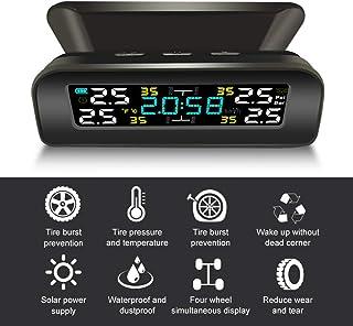 Sangmei TPMS do carro Sistema de monitoramento da pressão dos pneus Sistema de alarme de carregamento solar sem fio TPMS c...