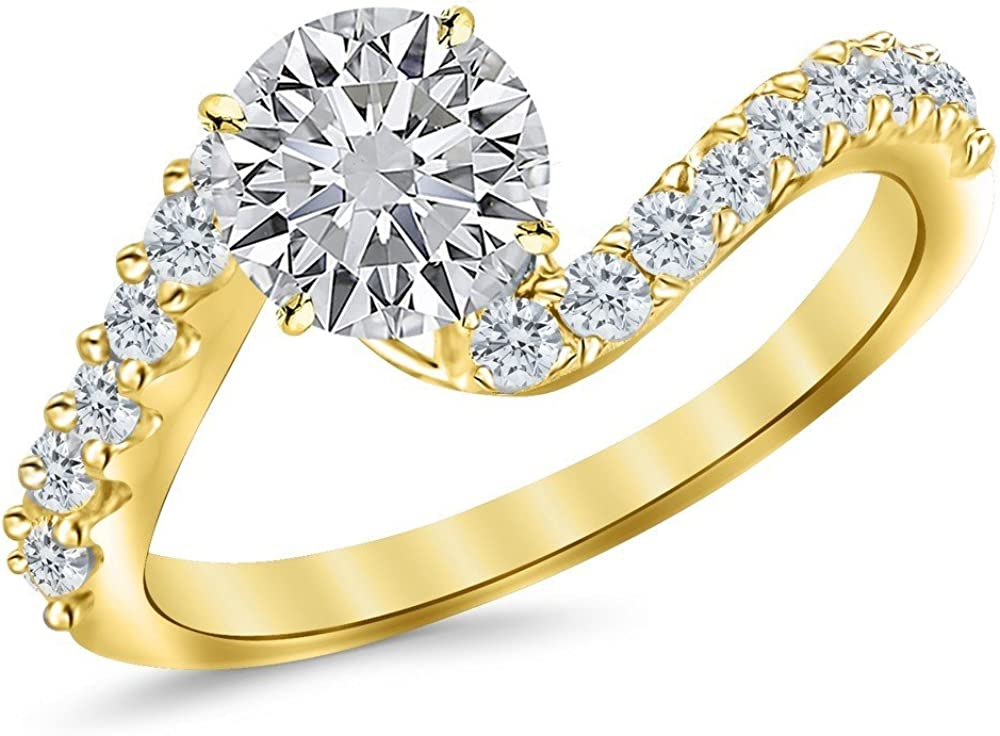1.75 Ctw 14K White Gold We OFFer at cheap prices Twist Diamon GIA Mesa Mall Curving Certified Round