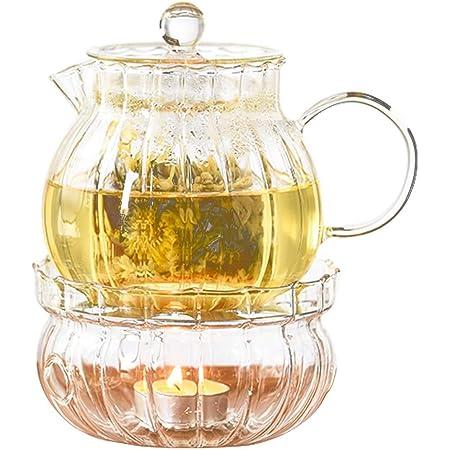 cocina de inducci/ón y estufa de Oneisall 550 ml maceta de t/é y caf/é Tetera de vidrio transparente de borosilicato resistente al calor con infusor de acero inoxidable