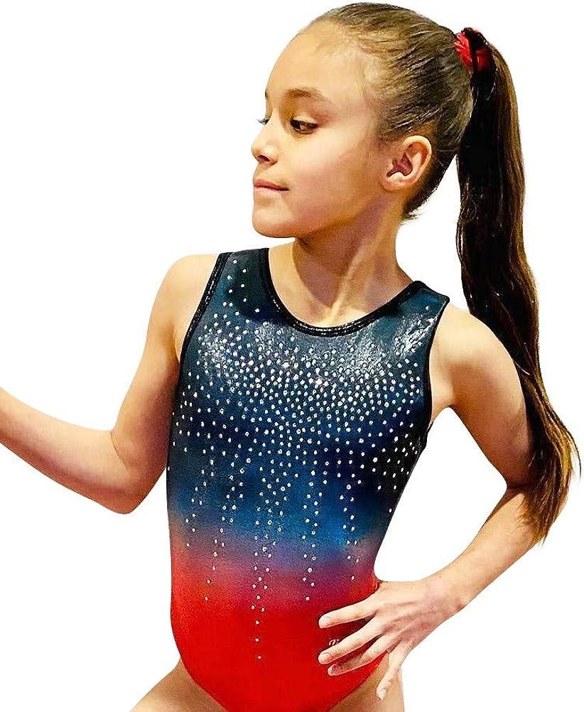 LIL'FOX New popularity Gymnastics Brand Cheap Sale Venue Leotards for Girls GALAXY OMBRE FOIL SHINY -