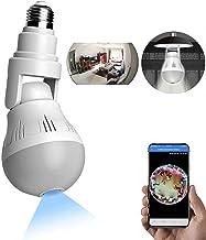 WANYANG Câmera de Segurança WiFi, 1080P Câmera Lâmpada Espiã 360 ° Panorâmica Oculta E27 Lâmpada Câmera Espiã com Visão No...