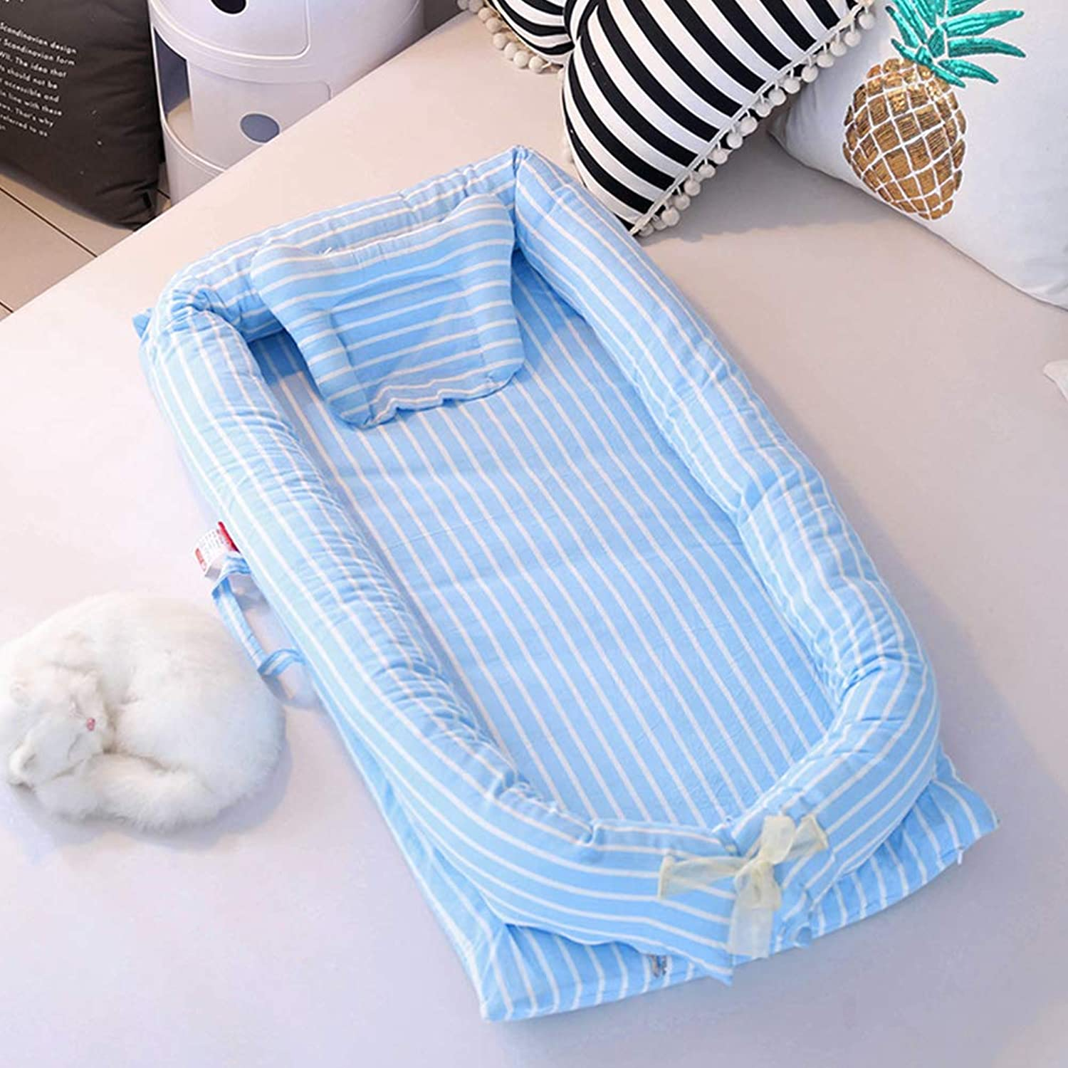Foldable Baby Travel Crib Net Not Need Installed, Baby Travel Cot Portable Baby Crib, Can Be Lengthened Portable Baby Cots for 0-3 Years Old Baby