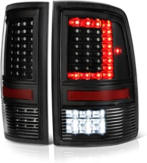 VIPMOTOZ Full-LED Tail Light Lamp For 2009-2018 Dodge RAM 1500 2500 3500 - [Factory Incandescent Model] - Matte Black Housing, Driver & Passenger Side